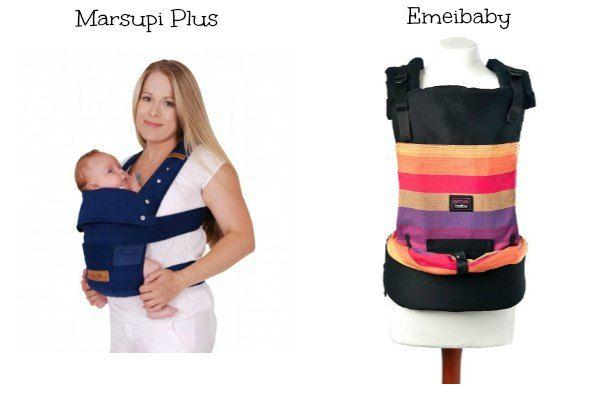 mochilas portabebes Marsupi Plus y Emeibaby