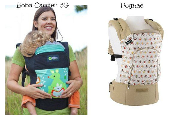 Mochilas portabebes Boba Carrier 3G y Pognae