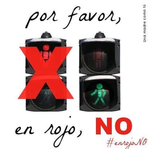 En rojo NO #enrojono