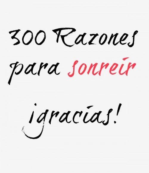 300 razones para sonreir