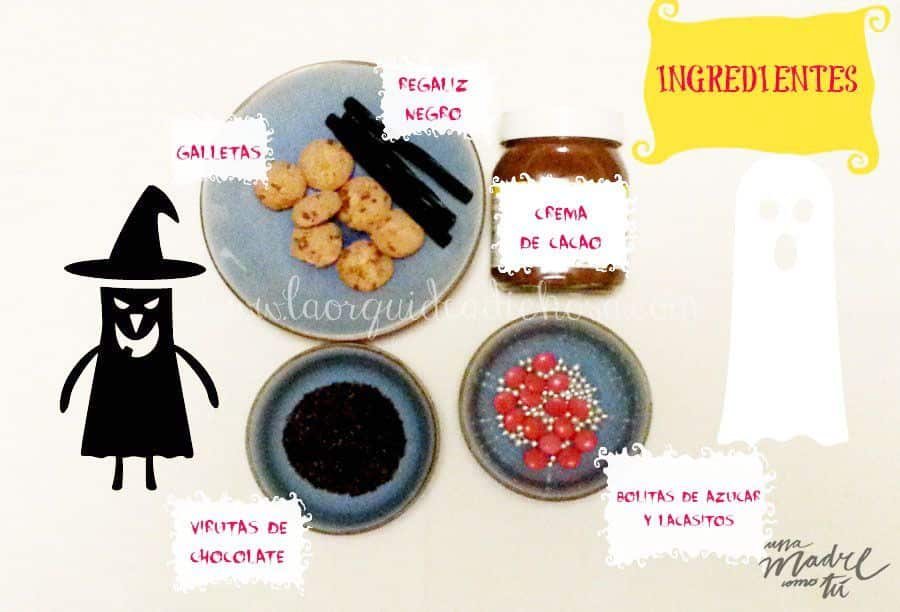 ingredientes galletas de halloween