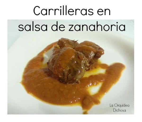 carrilleras en salsa de zanahoria