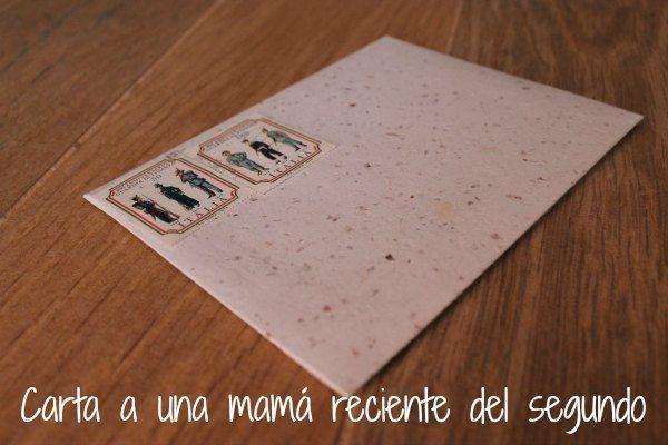 carta a una madre reciente del segundo