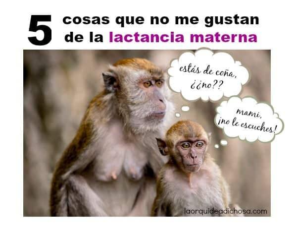 5 cosas que no me gustan de la lactancia materna
