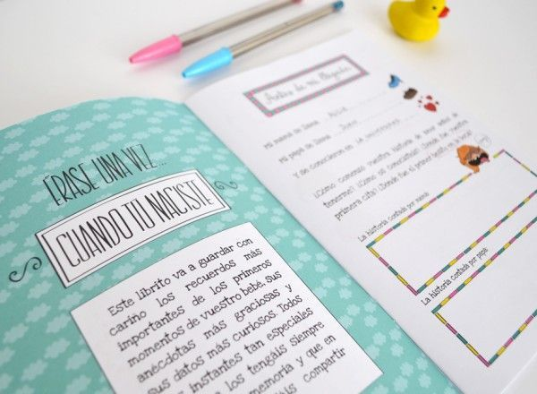 cuaderno de recuerdos bebé