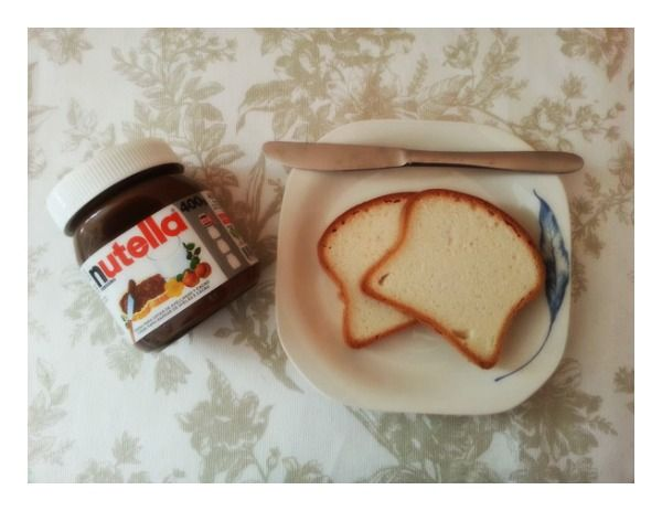 Nutella y pan sin gluten