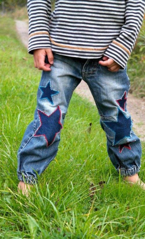 parche pantalón estrellas