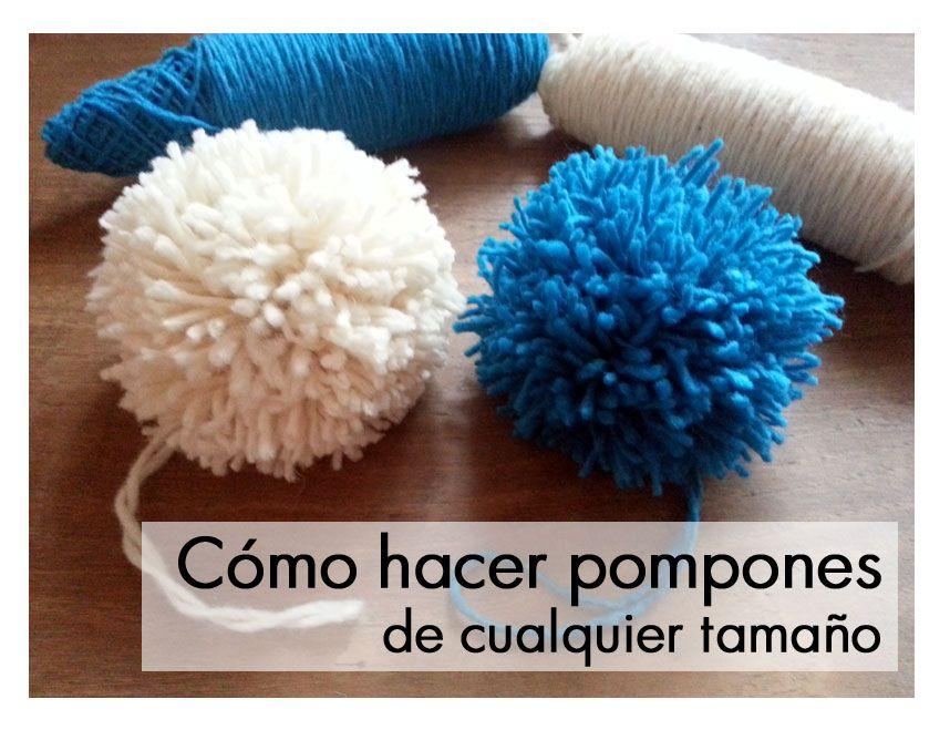 hacer pompones lana