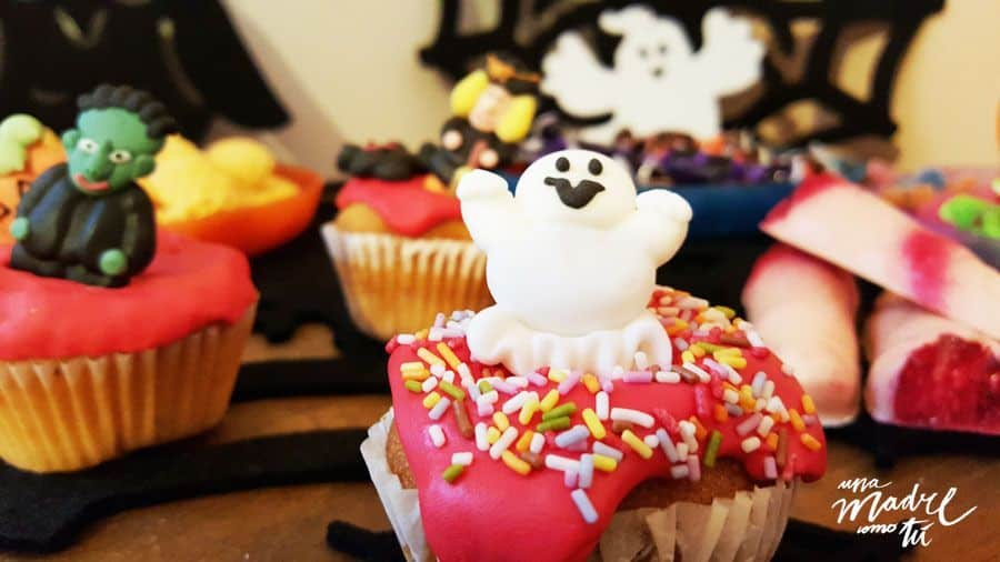 cupcake fantasma halloween