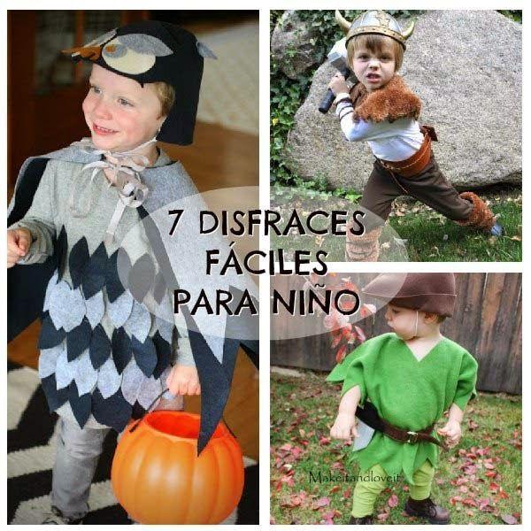 disfraces de halloween fáciles para niños