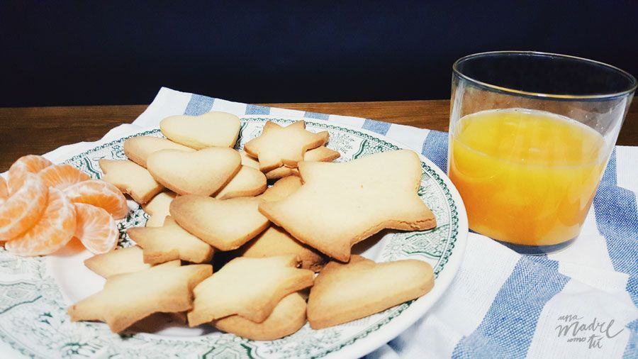 receta de galletas de naranja y jengibre