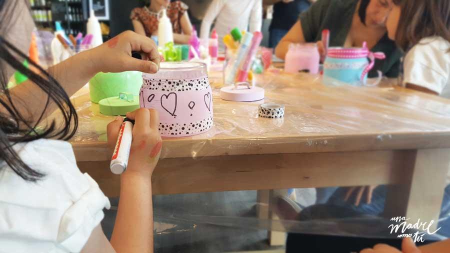 taller decorar botes de cristal Ikea
