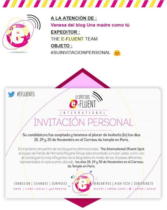 invitación e-fluent París