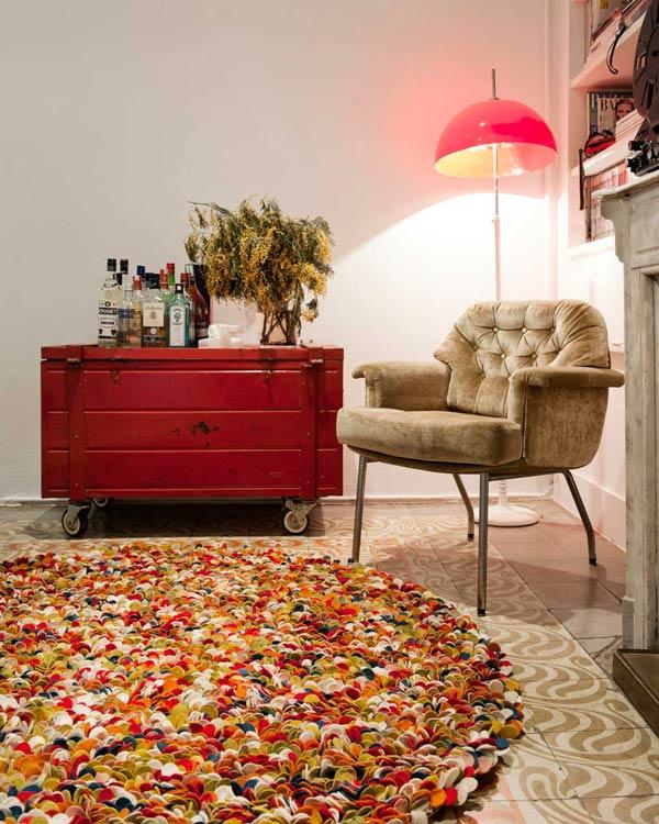 alfombras artesanales de fieltro de la India