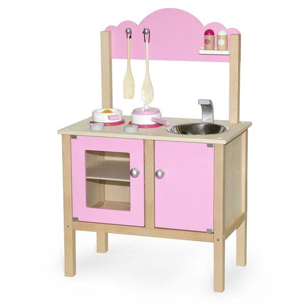 cocinita de madera barata rosa
