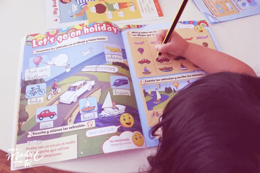 libro de repaso de inglés de segundo de infantil