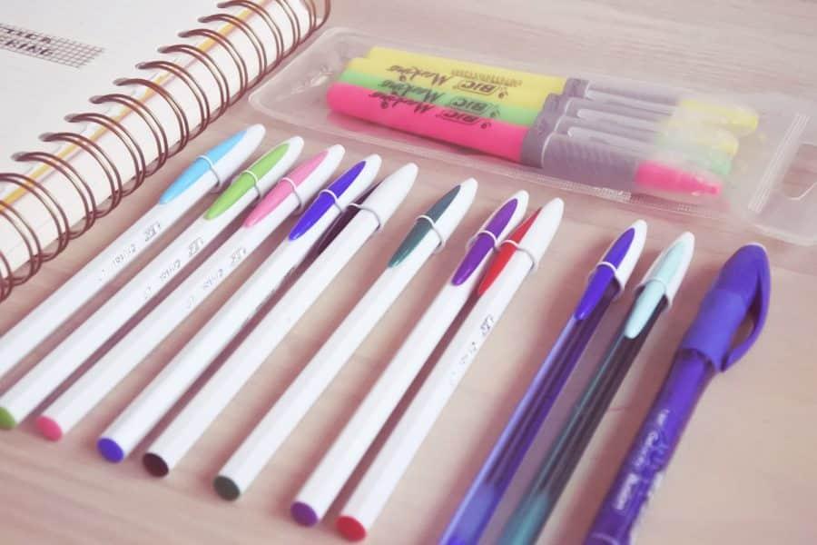 bolígrafos de colores BIC