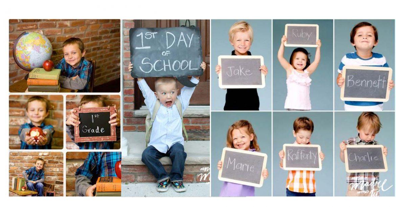 Ideas de fotos para el primer día de cole {y regalo pizarra imprimible gratis}