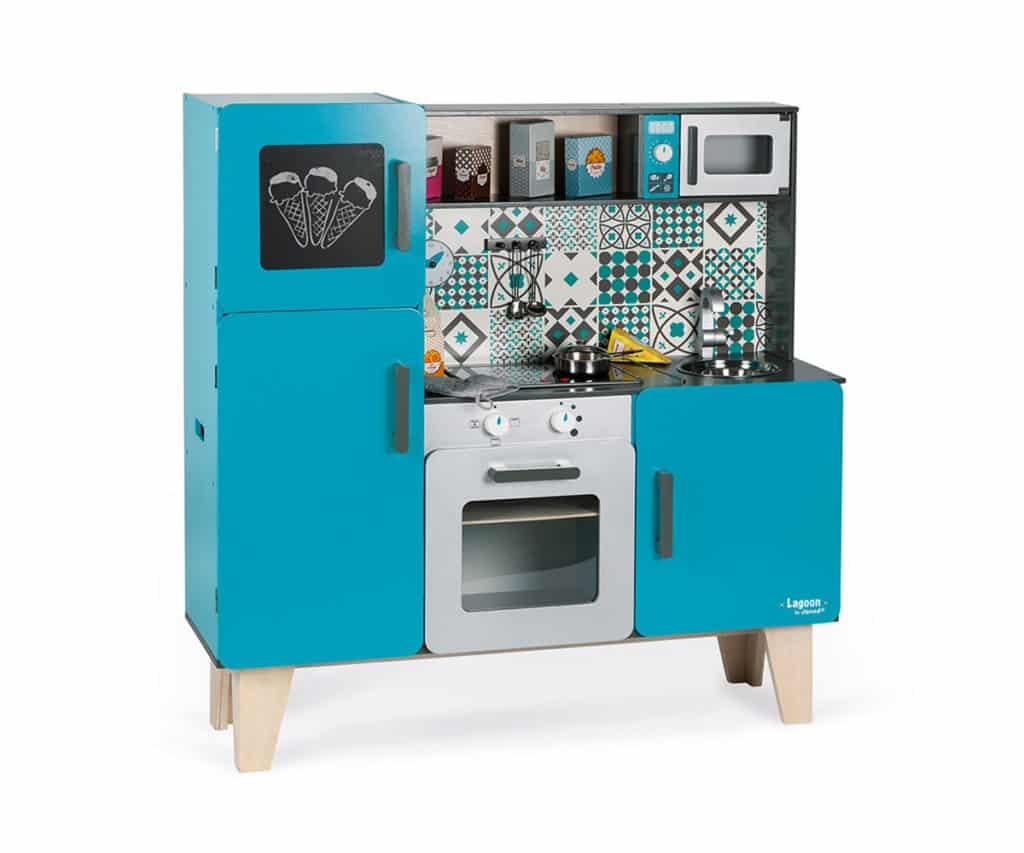 maxi cocina juguete azul