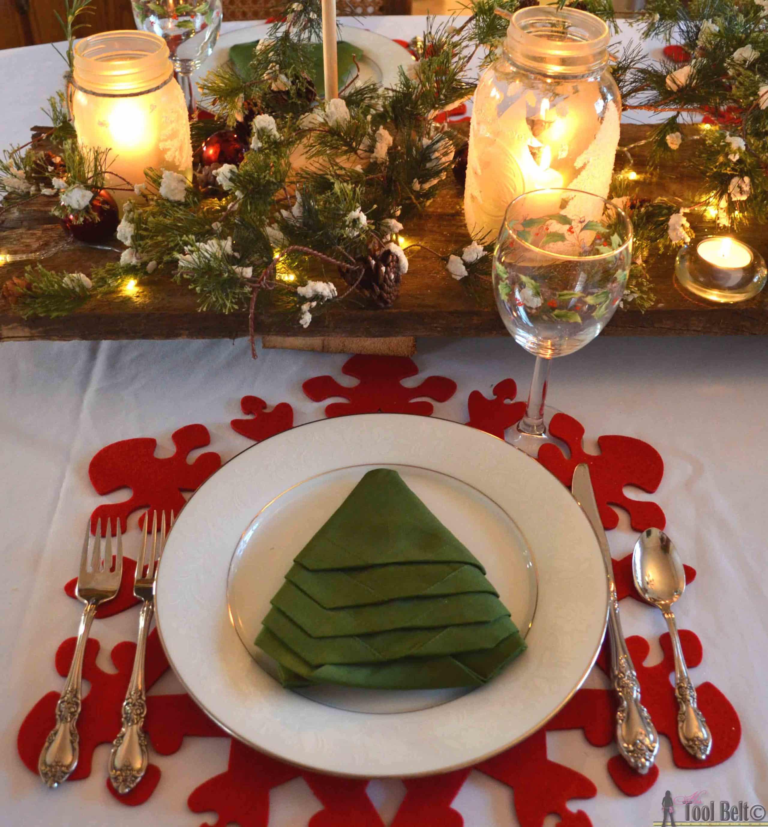 decoración mesas navidad roja y verdemesas navidad