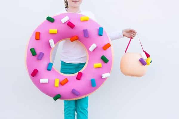 disfraz de donut para niña y niño