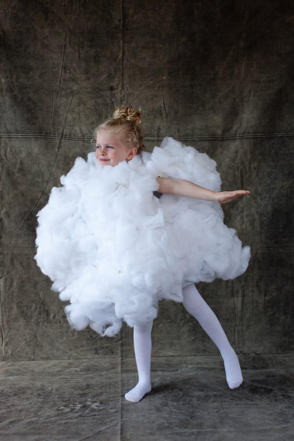 disfraz de nube para niña y niño
