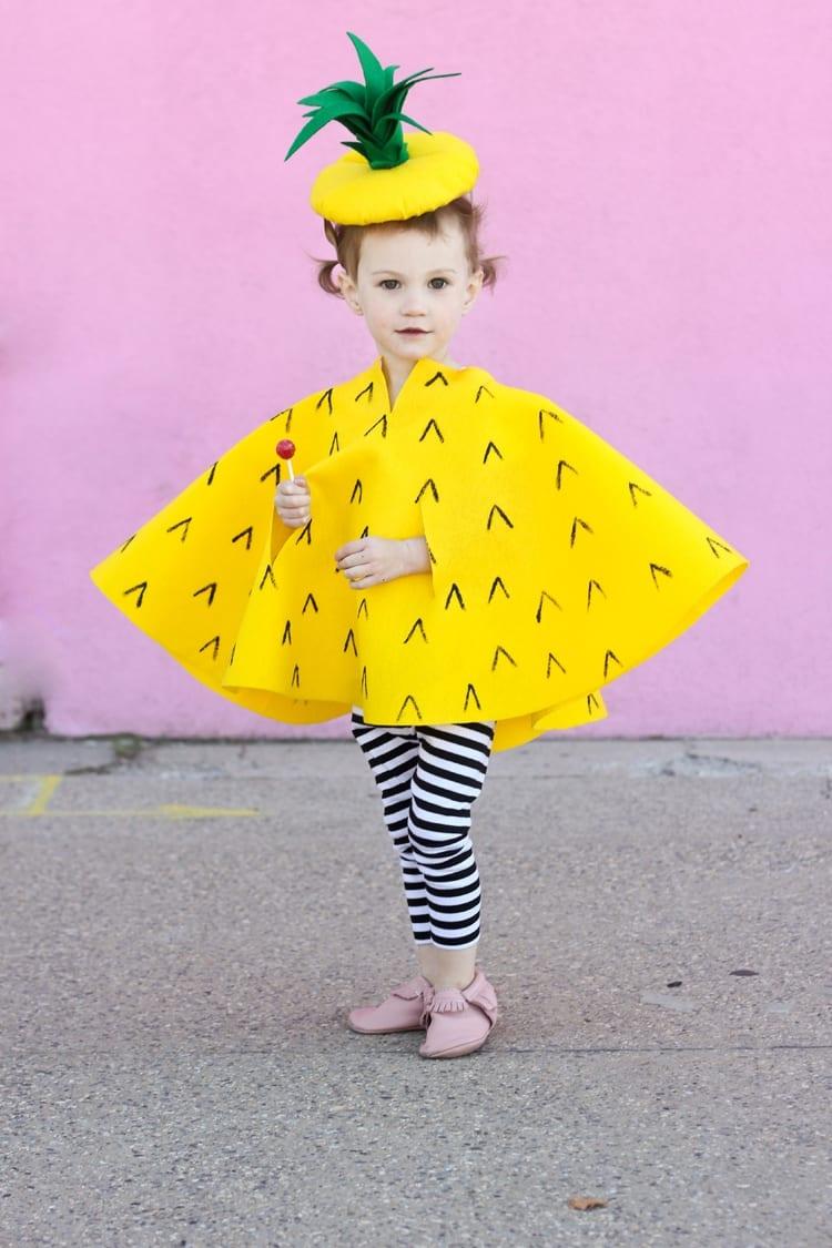 disfraz de piña para niño y niña