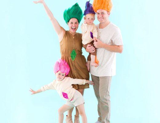 disfraz familia trolls