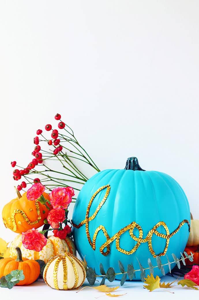 Calabazas halloween lentejuelas