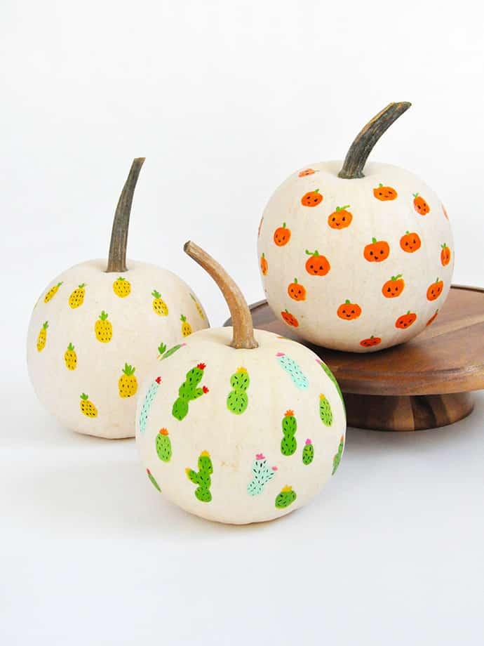 calabazas halloween huellas