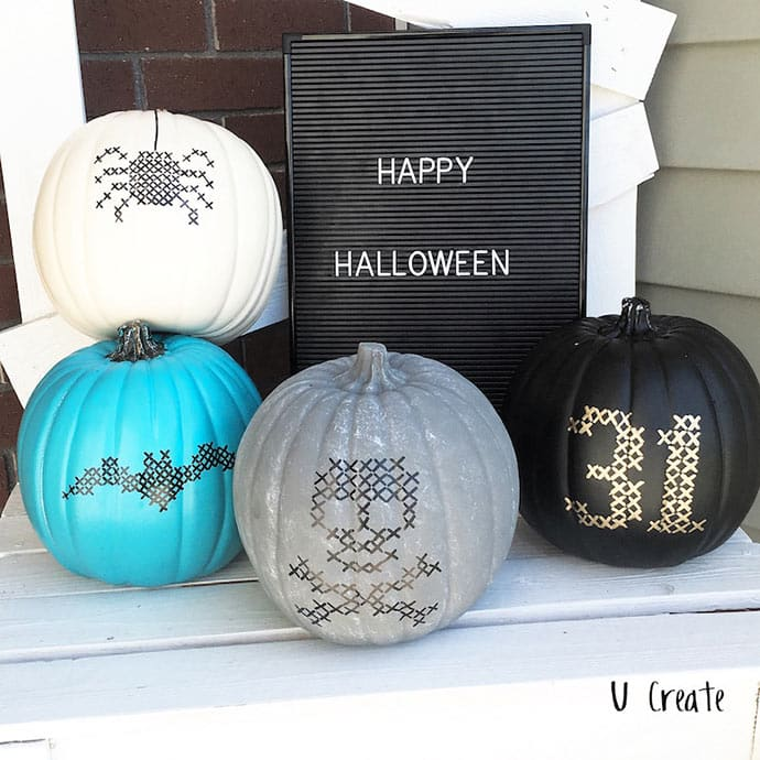 calabazas halloween punto de cruz