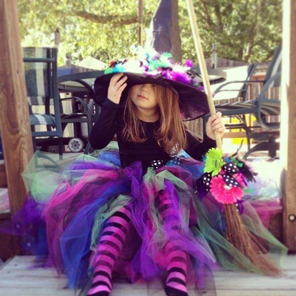 disfraz de bruja para niña diy