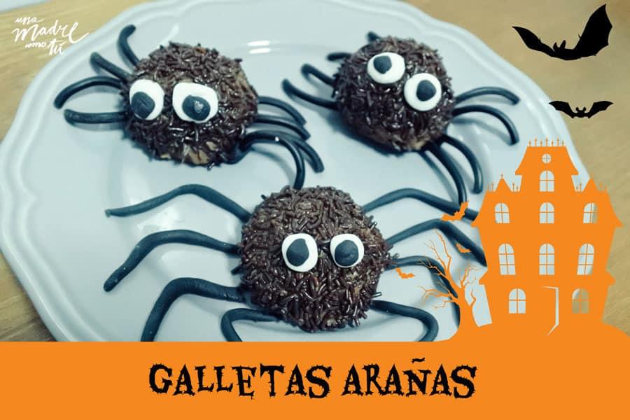 galletas arañas halloween
