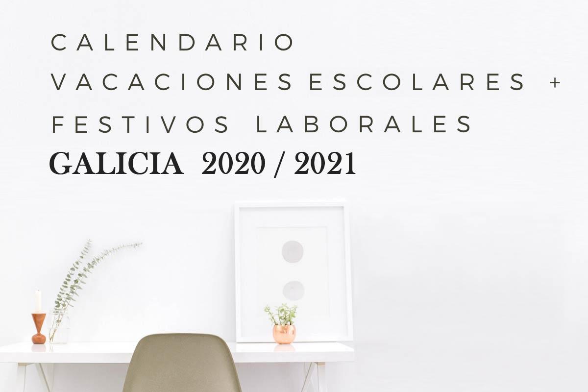 Calendario escolar y laboral Galicia 2020-2021